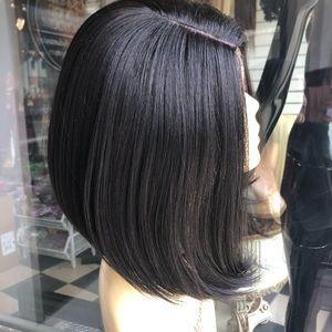 Cheap Black short bob sidePart wig 2020 hairstyle